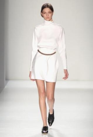 Winter white - Victoria Beckham F/W 2014