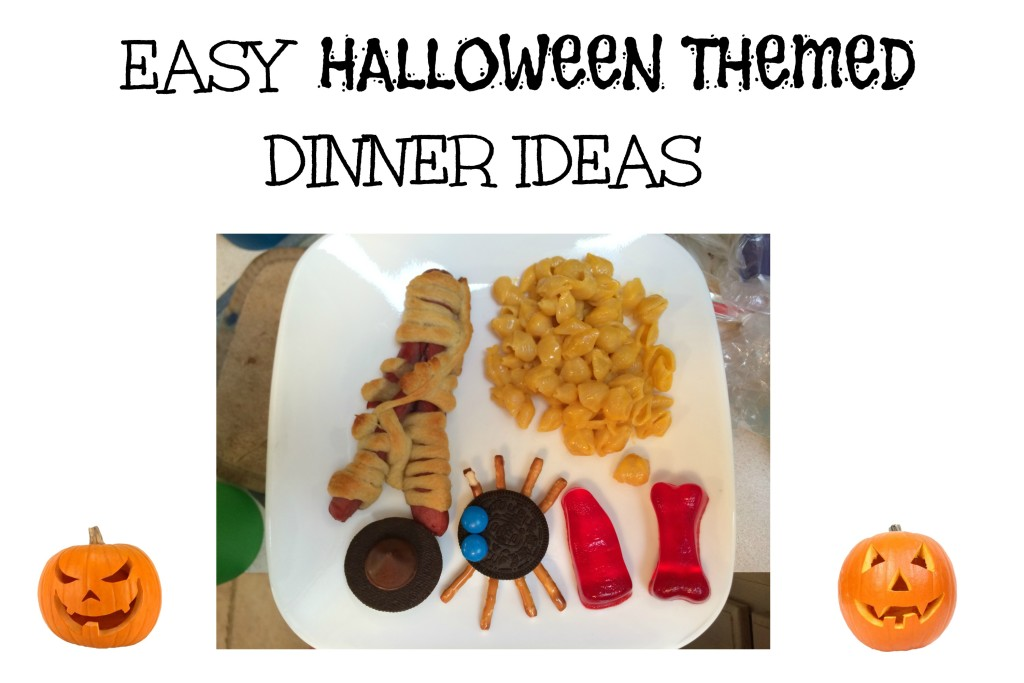 Easy Halloween Themed Dinner Ideas -- easy ways to add a little Halloween to your dinner plates | www.alwaysmovingmommy.com