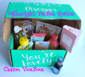 Influenster Charm VoxBox Review -- lots of great products in one little box | www.alwaysmovingmommy.com