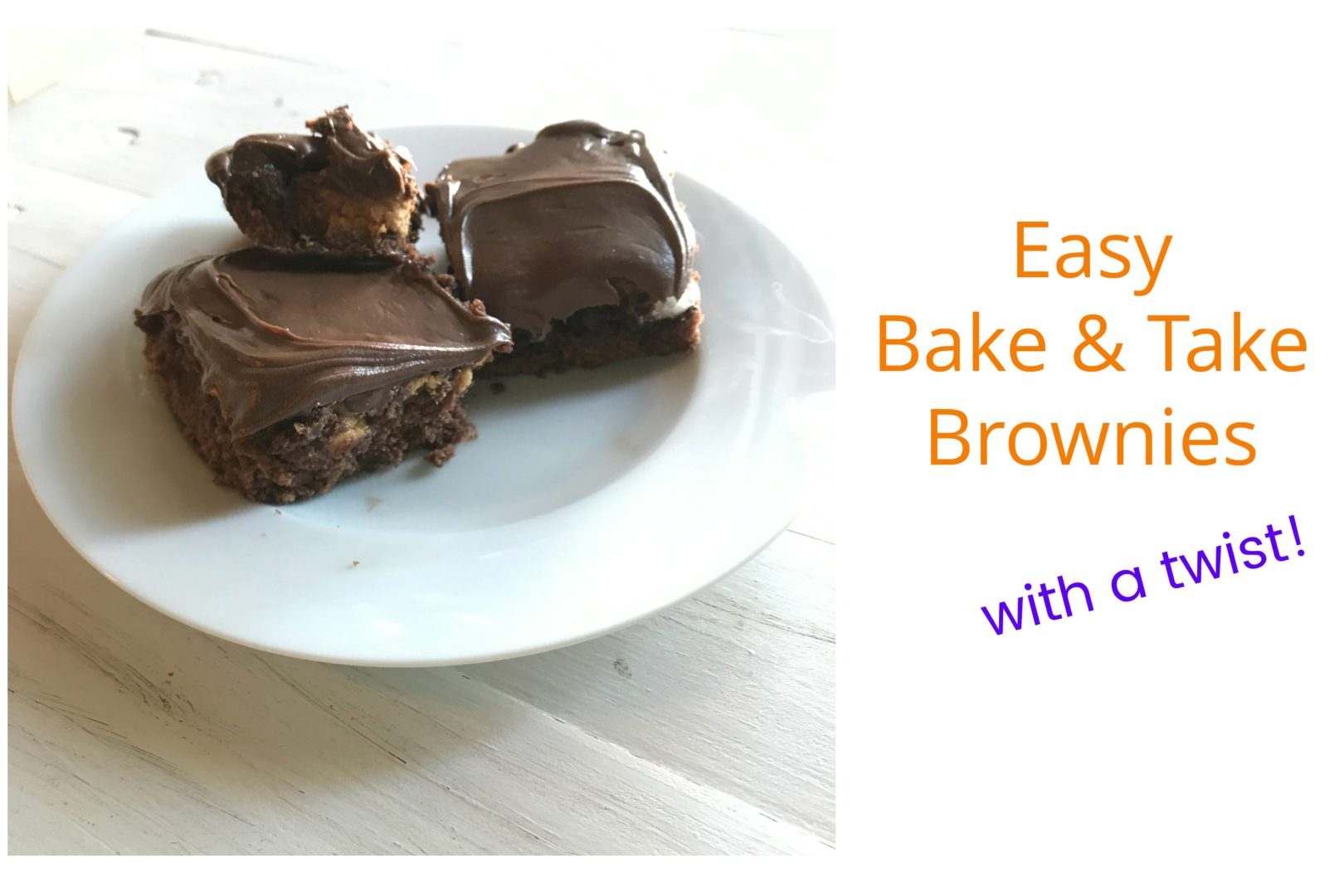 Easy Bake and Take Brownies with a Twist | Always Moving Mommy | Brownies are delicious on their own, but with these add ins, they'll be gone in no time