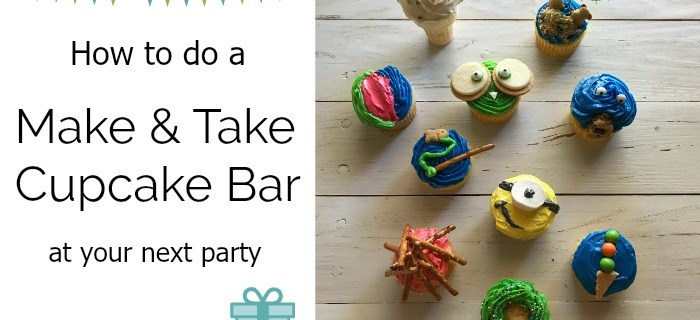 How to Do a Make and Take Cupcake Bar for Your Next Party | Always Moving Mommy | Letting your guests decorate their own cupcakes is a fun party activity.