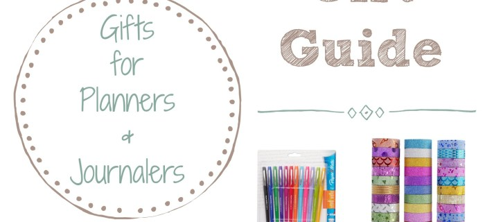Gift Guide: Gift Ideas for Planners and Journalers