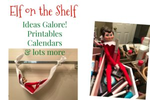Elf on the Shelf Ideas   AlwaysMovingMommy.com   Does your Elf on the Shelf need some more ideas? Check out this list complete with printables and calendars!