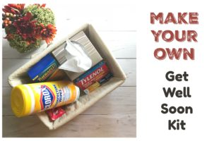 How to Make Your Own Get Well Soon Kit | AlwaysMovingMommy.com | How will you survive germ season this year? Check out my tips for making a DIY get well son kit.