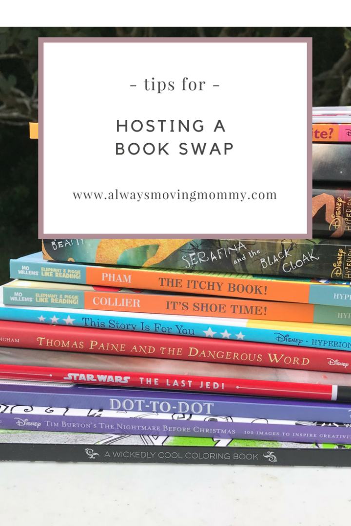 How to Host a Book Swap | AlwaysMovingMommy.com | Keep your kids interested in reading with new titles by hosting a book swap.