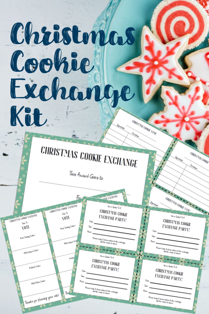 Hosting a Christmas Cookie Exchange with Free Printables | AlwaysMovingMommy.com