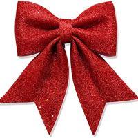 Red Glitter Ribbon Bow