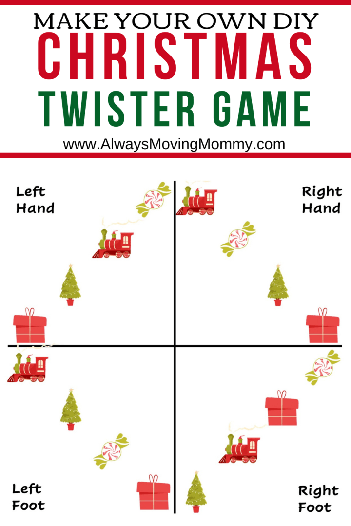 Free Printable Christmas Twister Game | AlwaysMovingMommy.com