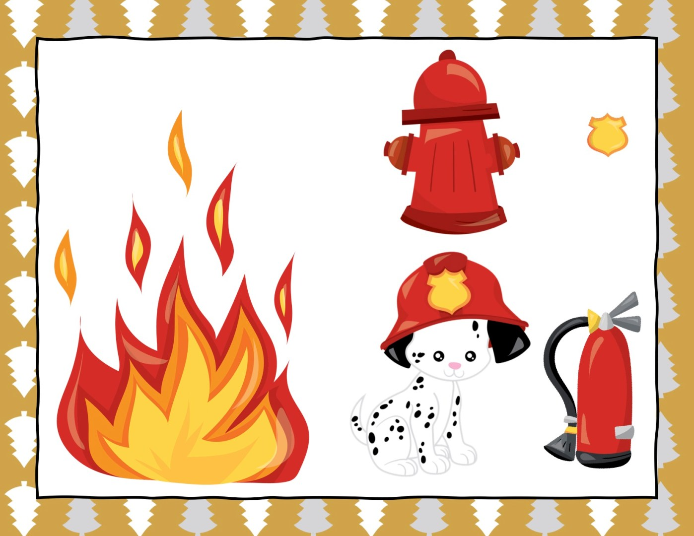 Free Elf on the Shelf firefighter props   Always Moving Mommy