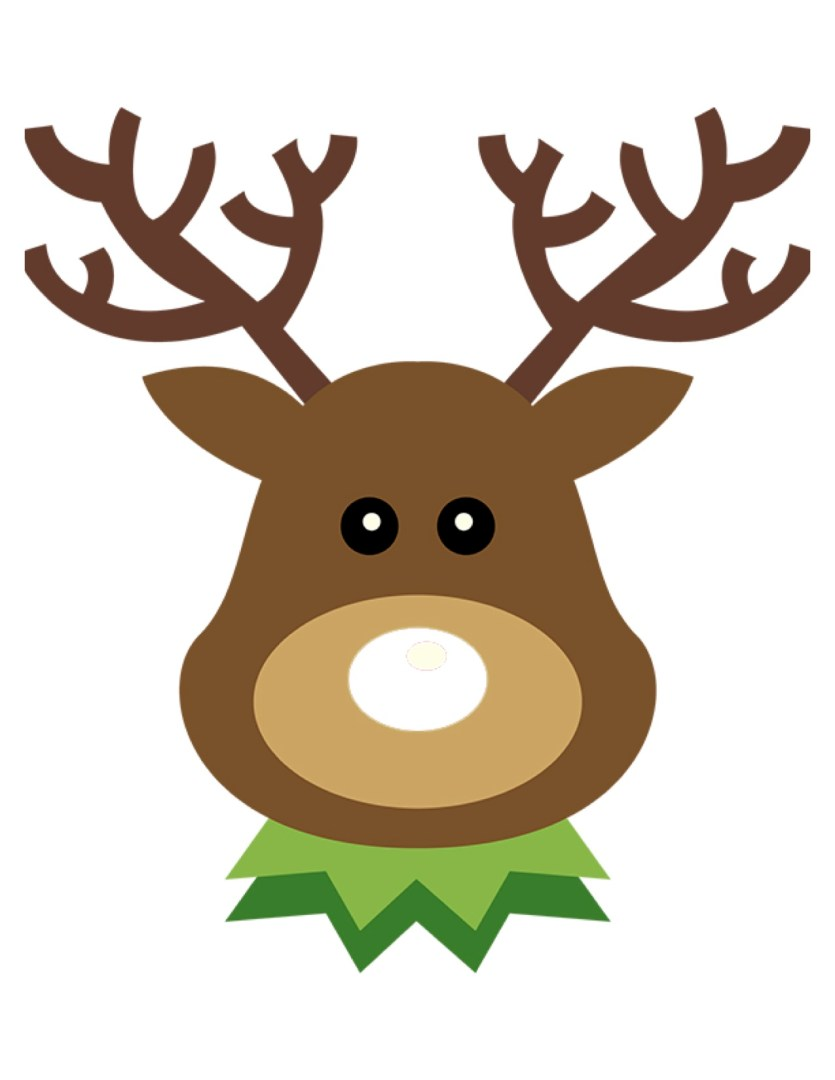 Free Printable Pin the Nose on Rudolph Christmas Game | AlwaysMovingMommy.com
