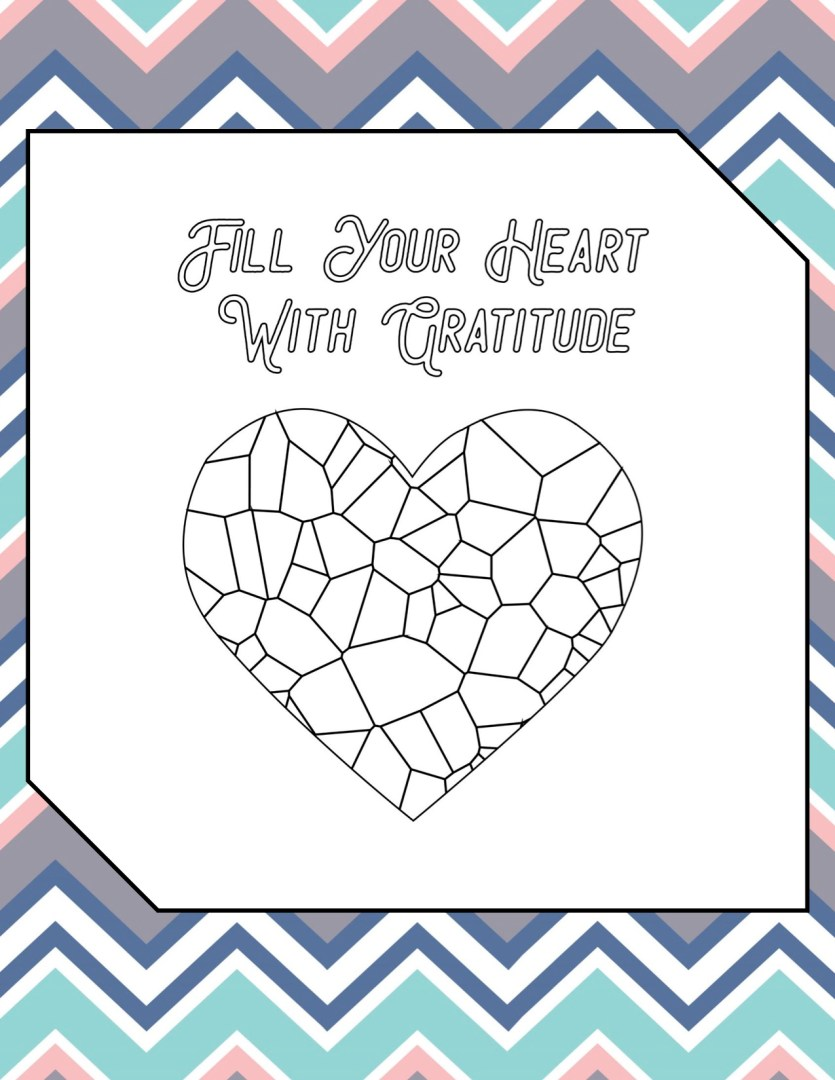 Free Printable Self Care Journal for Moms Coloring Page