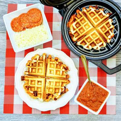 Make Your Own Waffle Iron Pizza