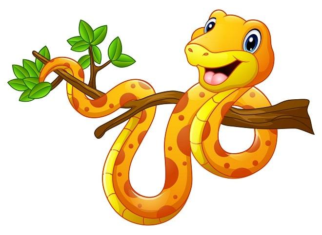 snake on branch