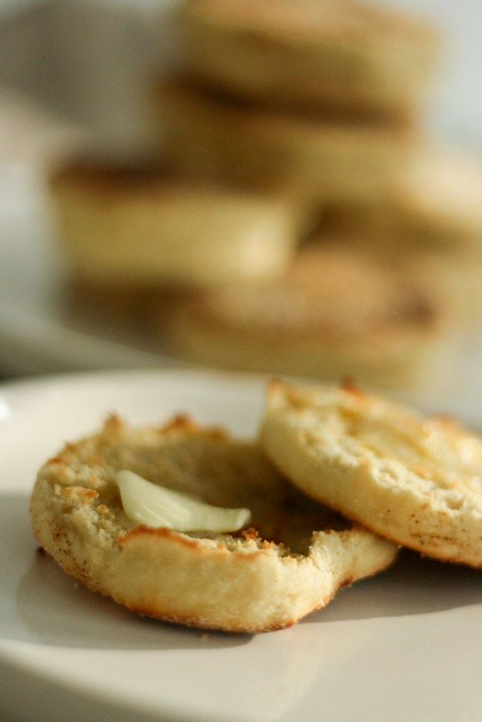 Homemade english muffins recipe with bread flour and buttermilk