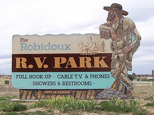 Gering - Robidoux RV Park Sign