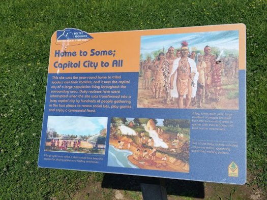 AOL - Toltec Mounds Archeological State Park Info Sign