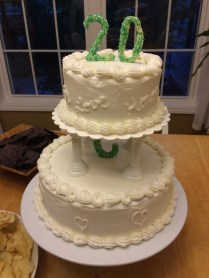 A replica of their wedding cake!