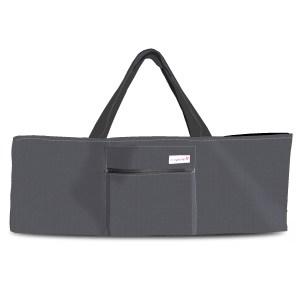over the shoulder yoga bag gray