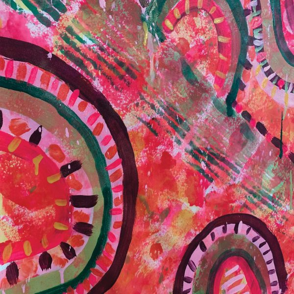 Hand Painted Fabric - Candyland