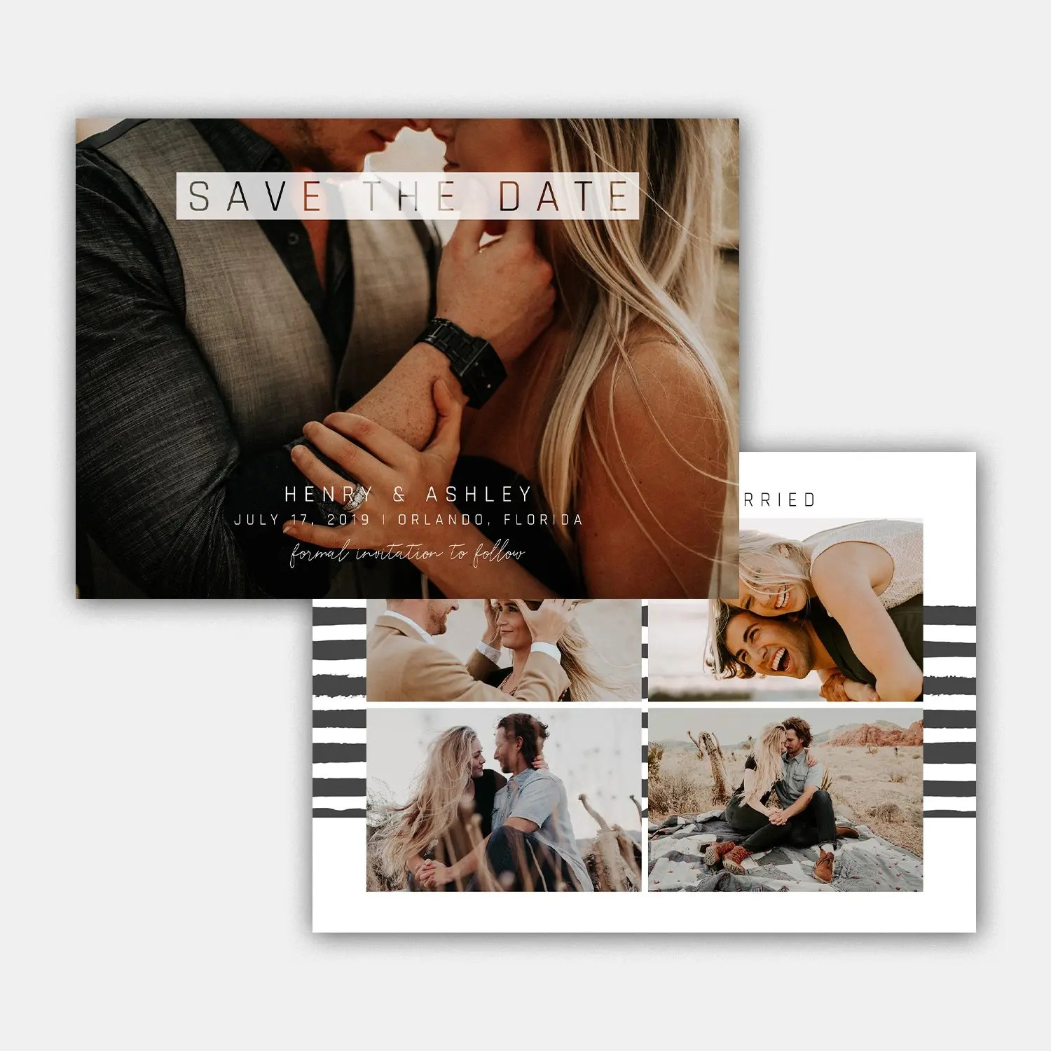 elegant save the date template