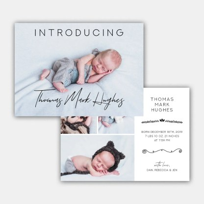 introducing birth announcement template