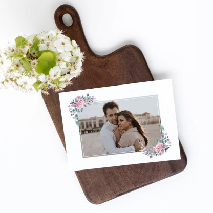 floral save the date template