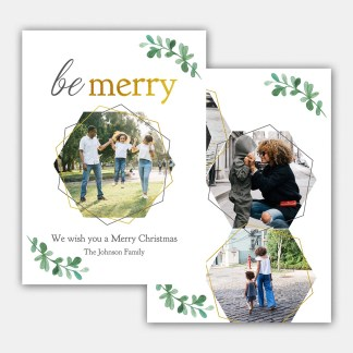 Be Merry Christmas Card Template