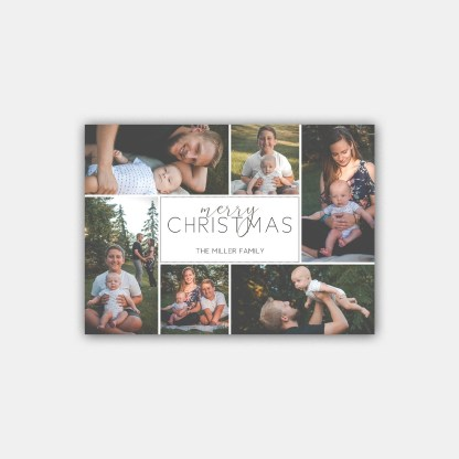 Merry Collage Christmas Card Template