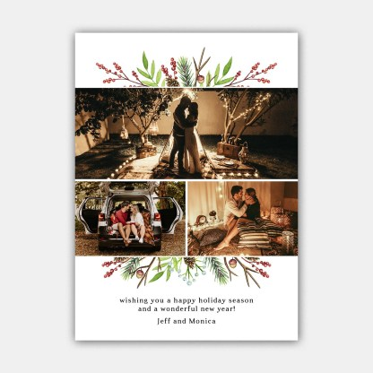 Pine Cone Christmas Card Template