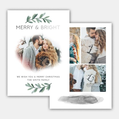 Simple Bright Christmas Card Template