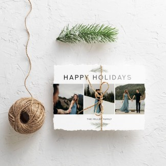 Happy Holidays Christmas Card Template