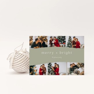 Merry Bright Christmas Card Template