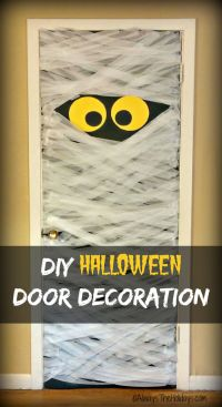 Halloween Door Decorations - Spooky DIY Mummy Door Decoration