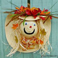 Scarecrow Autumn Wreath Door Decoration - Always the Holidays