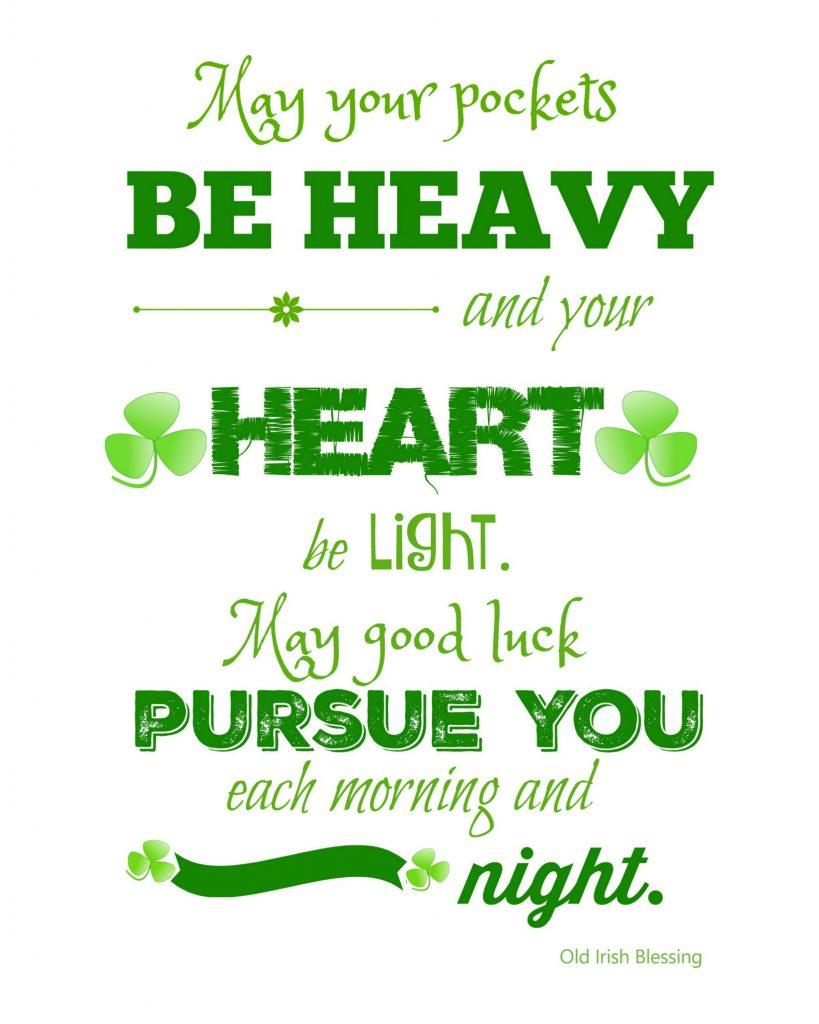 St Patricks Day Printable  Irish Blessing