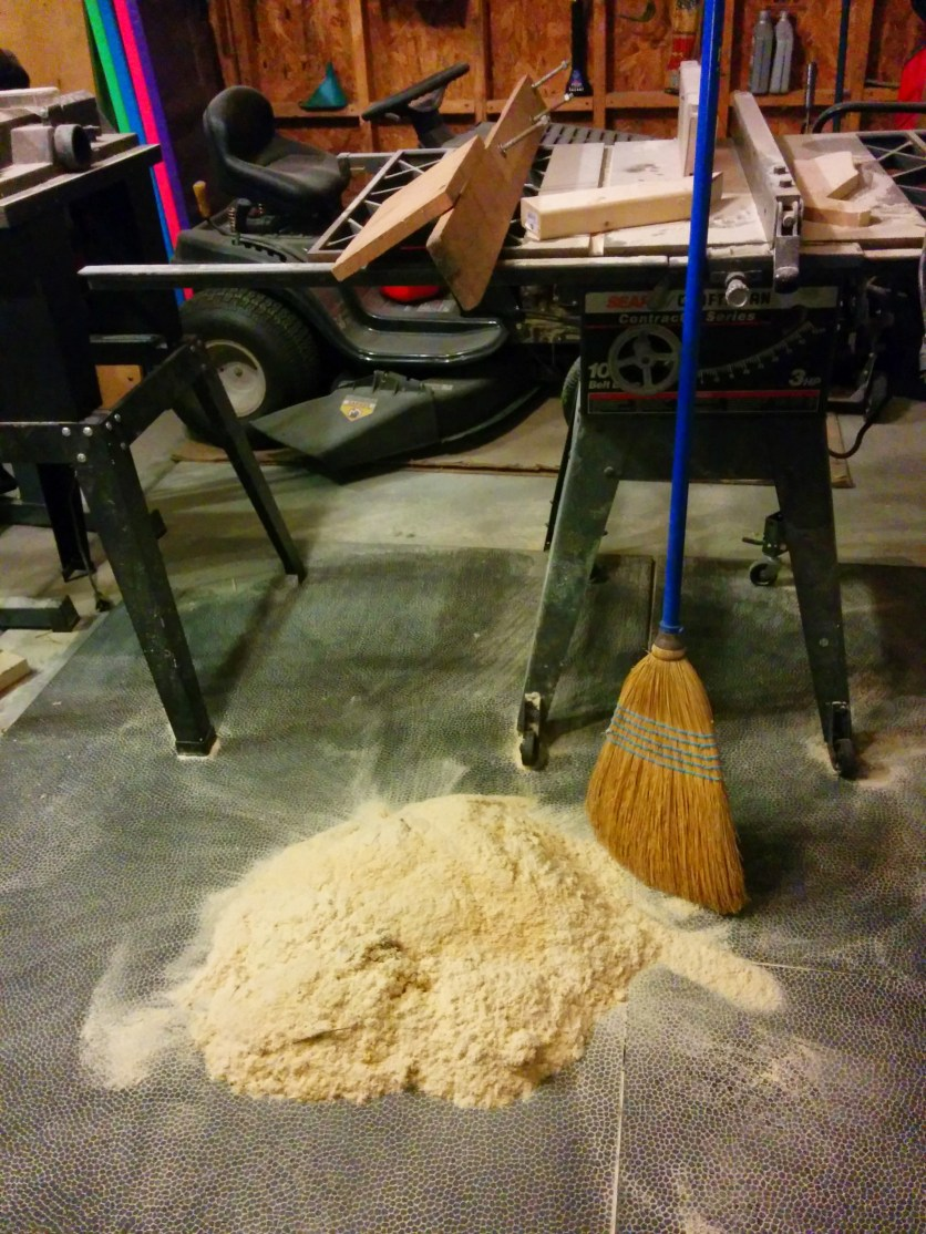 So much sawdust