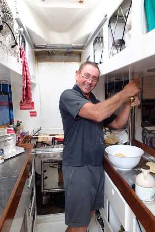 Jan back in the galley!