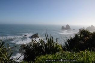 Pancake Rocks and Blow Holes at Punakaiki, New Zealand