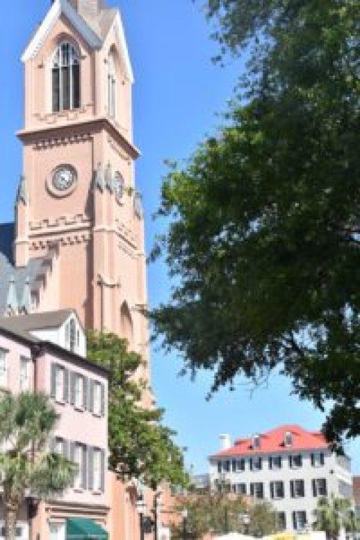 Pink Charleston tower