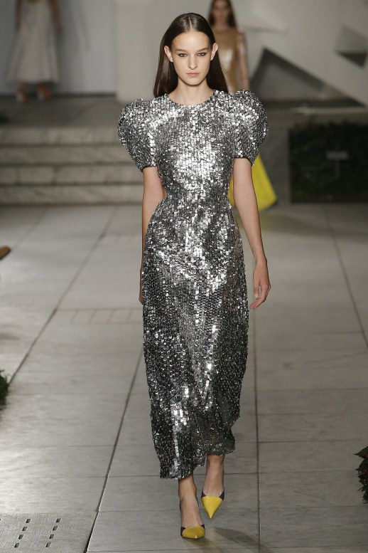 A2F NYFW S/S 2018 Metallic Mayhem Carolina Herrera