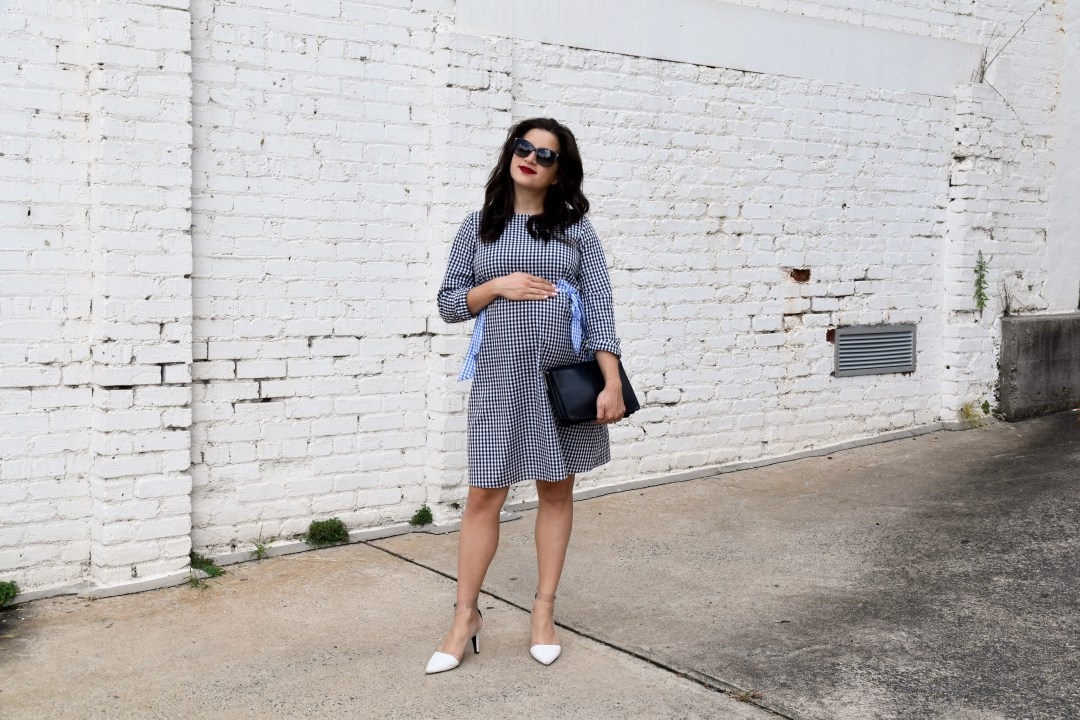 Asos Maternity Gingham dress with ties