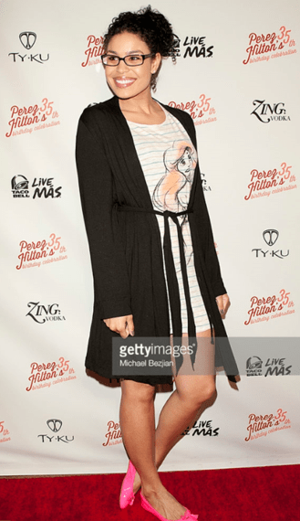 Jordin Sparks walks the red carpet for Perez Hilton's birthday party. Michael Bejian via gettyimages.com