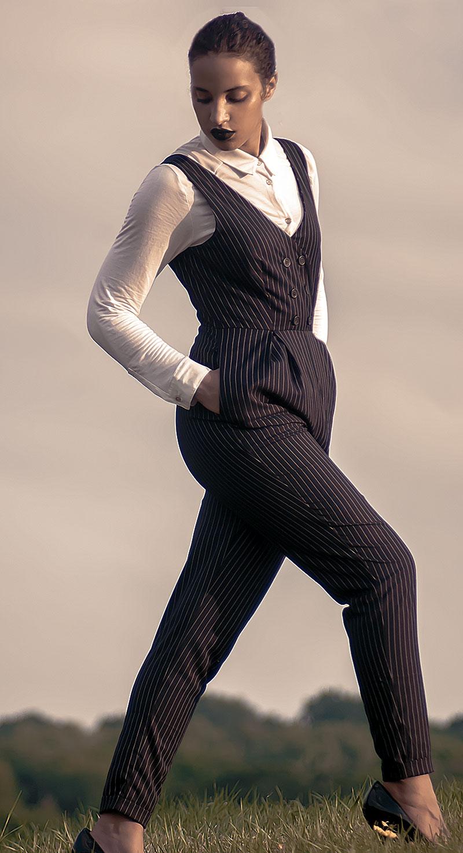Always Uttori Jack Skellington Subtleween Costume. INTJ Fashion Blogger, I'mari Avey. Photo Credit: Mechelle Avey. Alwaysuttori.com