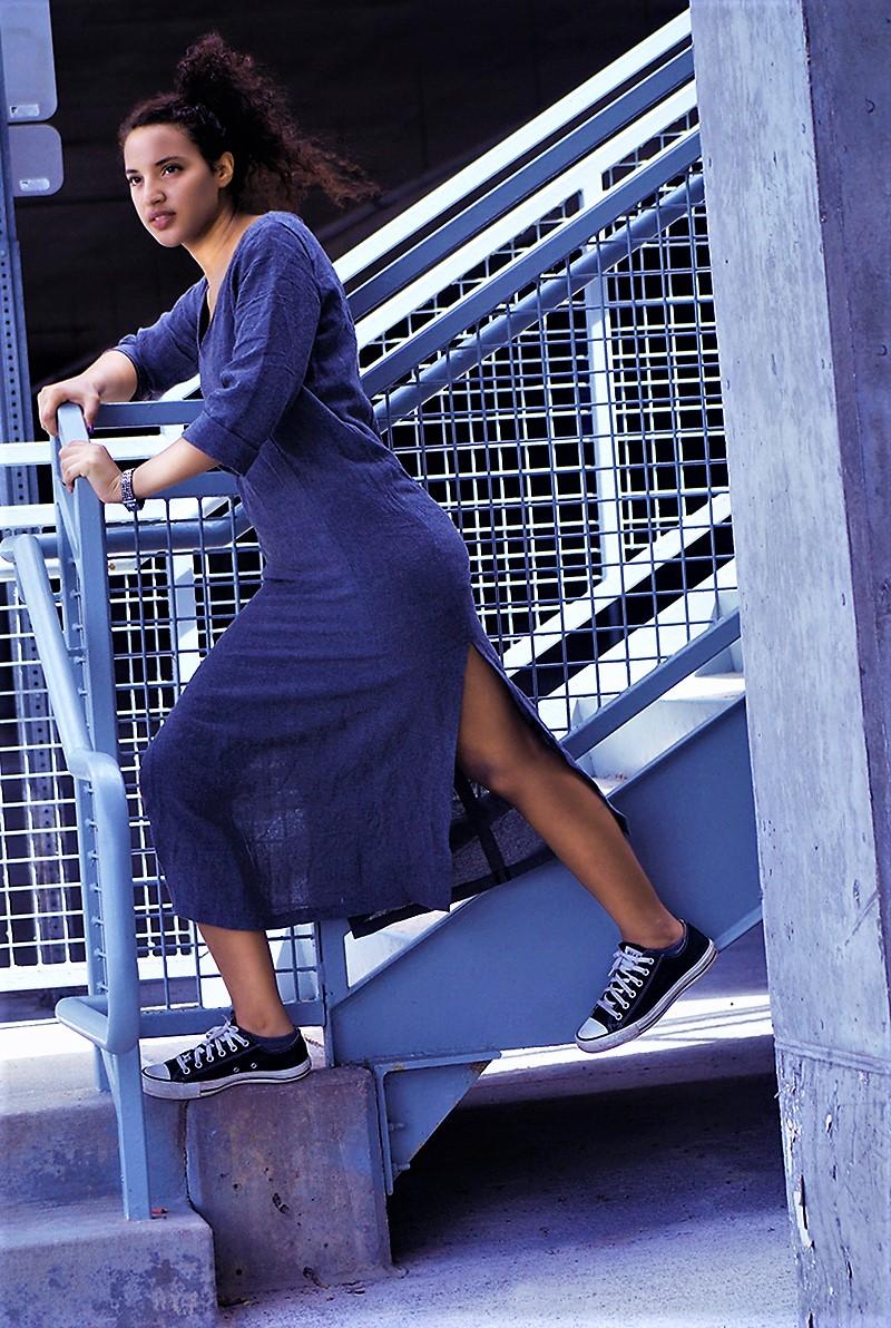 Zara Linen Work Dress, photo 1. Photo Credit: Mechelle Avey.Introvert Life: What to Winter Wear 3. Alwaysuttori.com