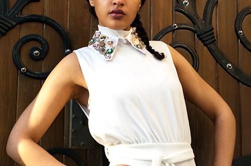 Spring Fashion Collar Feature Pic. Photo Credit: Mechelle Avey. Always Uttori Spring Fashion Whites. Alwaysuttori.com