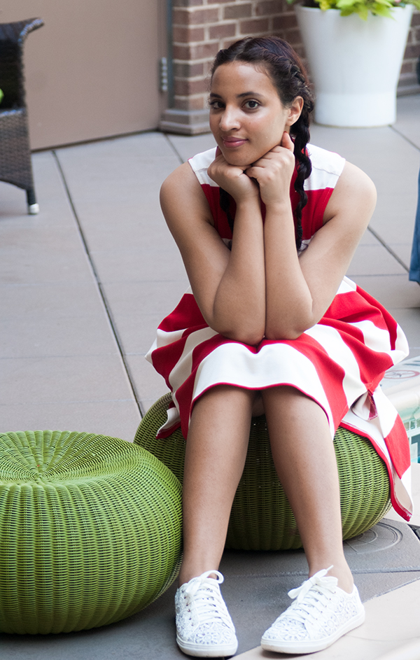 Gracia Striped Dress, Look 1, P3. Photo Credit: Mechelle Avey. Red White and Fresh Look 1. Alwaysuttori.com
