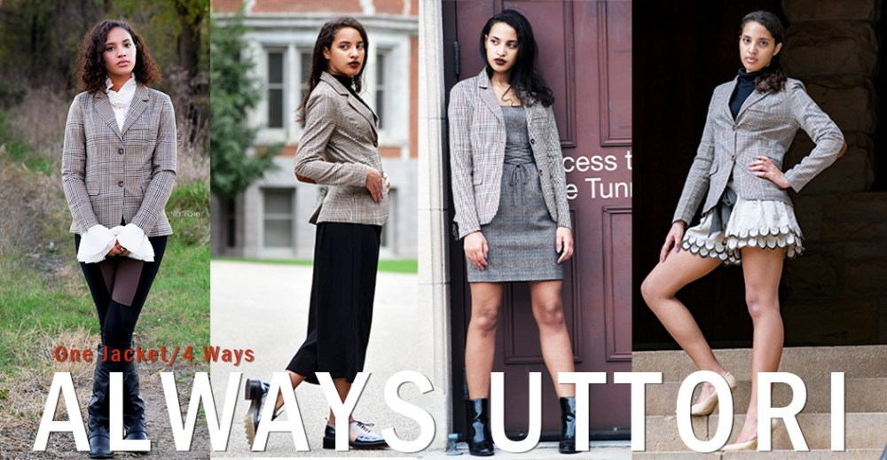 One Jacket Four Ways, Photo Credit: Mechelle Avey. INTJ Fall Fashion Femme Chic. Alwaysuttori.com