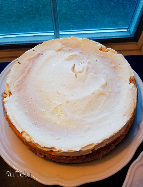 Sweet Potato Cheesecake. Photo Credit: Always Uttori. Girl + Food: Sweet Potato Cheesecake + Brown Betty Cookbook Review. Alwaysuttori.com.