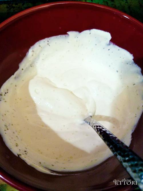 Sour Cream Mix. Photo Credit: Always Uttori. Girl + Food: Sweet Potato Cheesecake + Brown Betty Cookbook Review. Alwaysuttori.com.