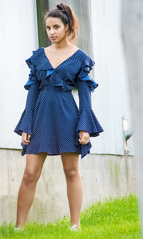 Blue and white Asos Ruffled Dress 1. Photo Credit: Always Uttori. Summer In Blue 4 Super Cute Summer Looks. Alwaysuttori.com